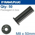 RAWLNUT  M8X50MM X50-BOX