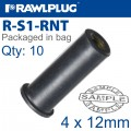 RAWLNUT M4X12MM X10-BAG