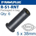 RAWLNUT M5X38MM X6-BAG