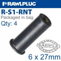 RAWLNUT 6X27MM X4 PER BAG