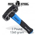 HAMMER SLEDGE/CROSS STRIKE 1.3KG 3LB GRAPH. HANDLE  REAL STEEL
