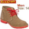 TORK CRAFT MENS VELLIE SHOES BROWN SIZE 14