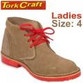 TORK CRAFT LADIES VELLIE SHOES BROWN SIZE 4