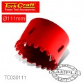 HOLE SAW CARBIDE GRIT 111MM -RED