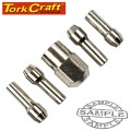 MINI QUICK CHANGE COLLET KIT 0.8/1.6/2.4/3.2MM