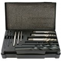SCREW EXTRACTOR SET 12 PCE WITH DRILL BITS FOR M3 - M24 SCREWS / STUDS