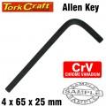 ALLEN KEY CRV BLACK FINISHED 4.0 X 65 X 23MM
