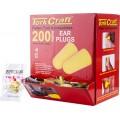 EAR PLUG 200PC BULLET SHAPE SNR33 YELLOW PER BOX