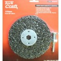 FACE OFF DISC AND ARBOR 125MM CARDED FOR DRILL