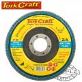 FLAP DISC ROUND EDGE ZIRCONIUM 115MM 80 GRIT FLAT