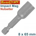 IMPACT NUTSETTER 8 X 65MM MAGNETIC CARDED