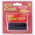 LETTER PUNCH SET 5MM A-Z BLACK FINISH