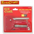 STAPLE GUN LIGHT DUTY WITH 100PC 0.7MMX8MM JT21 STAPLES
