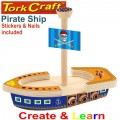 CREATE AND LEARN WOODEN PIRATE SHIP
