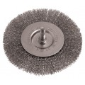 WIRE WHEEL BRUSH 100MM 6MM SHAFT STAINLESS STEEL